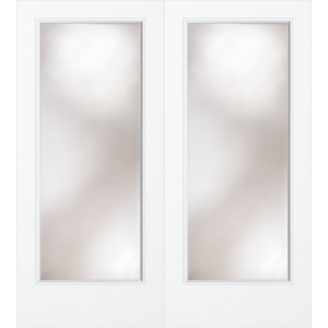 1 Lite Clear Glass French Door